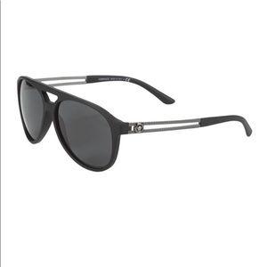 Versace 60MM polarized aviator sunglasses